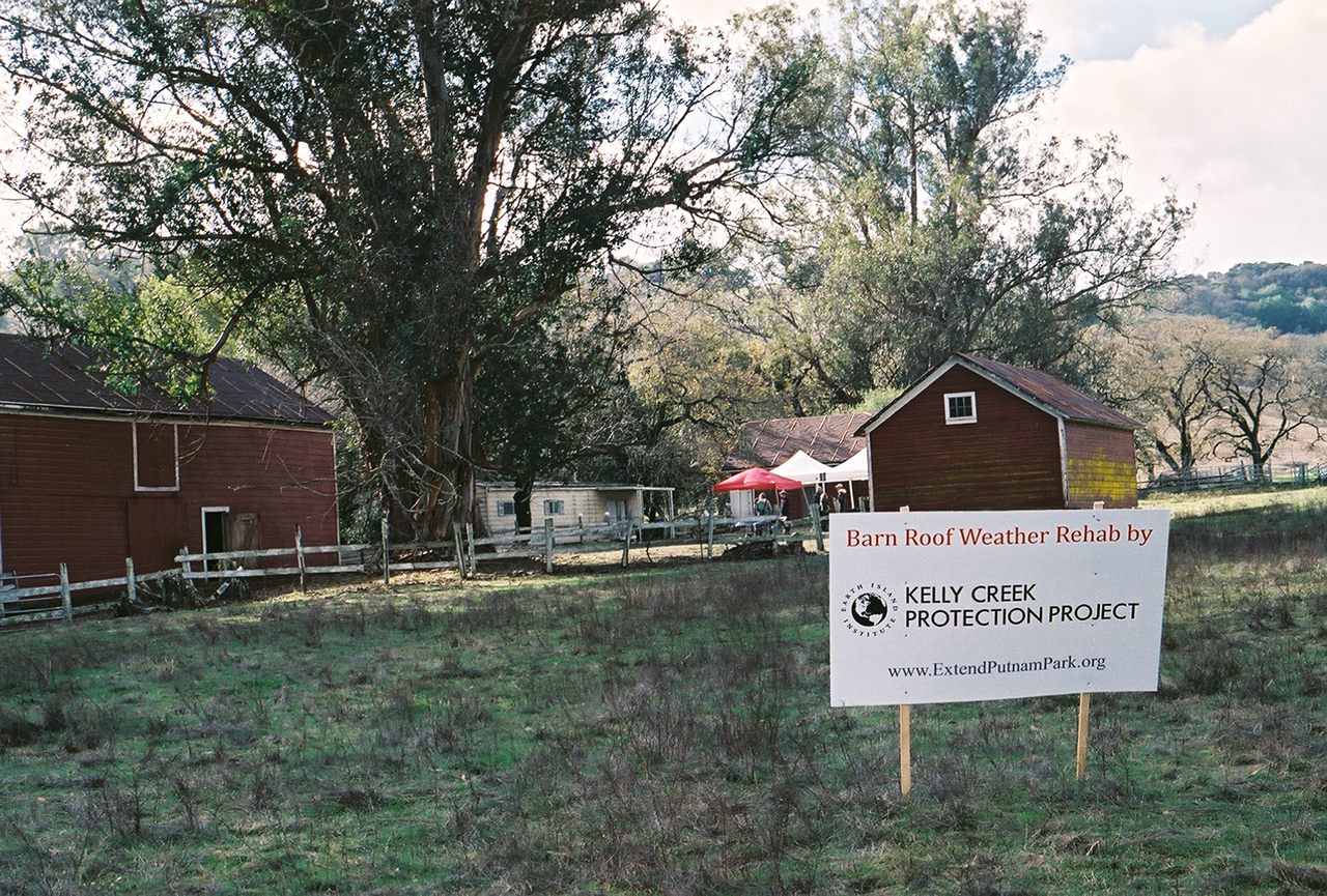 The red barn at Kelly Creek Protection Project